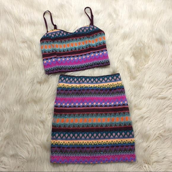 Nasty Gal X MINKPINK two piece skirt set